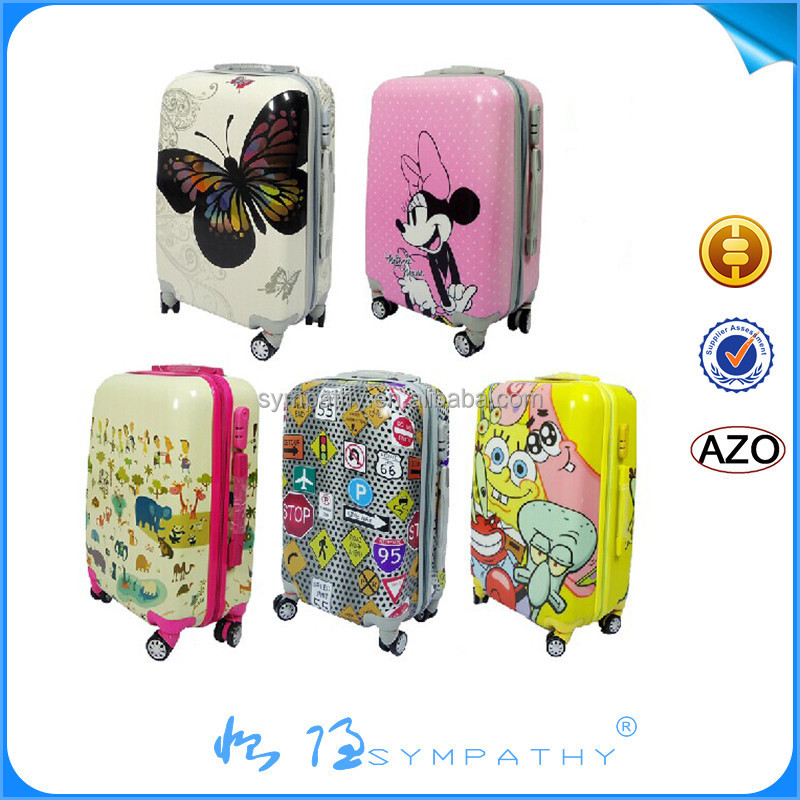 4 wheels trolley hard luggage set , travel bags,ABS PC travel case