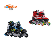 Outdoor sport adjustable inline roller skate shoes for children
