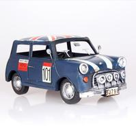 English Style Mini Flag Iron Antique Metal Car Model Crafts With Paint Bubble Car Model