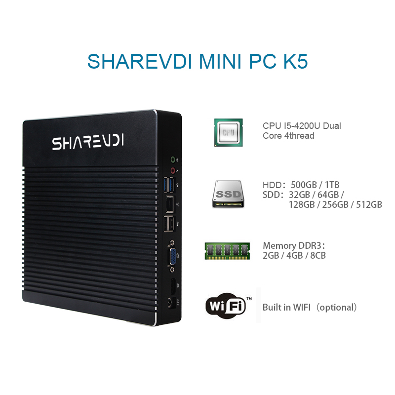 hot sale mini desktop computer linux i3 i5 i7 barebone pc with 4g ram 256g ssd wifi bluetooth