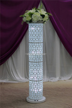 metal white flower stand wedding pillar/wedding flowers and pillars/decor wedding flowers stand cheap