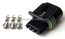 3 pin Delphi PA66 Connector 12162182 Femal with terminals and seals