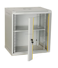 6U Wall Mounted <strong>Network</strong> Cabinet with glass door and lock