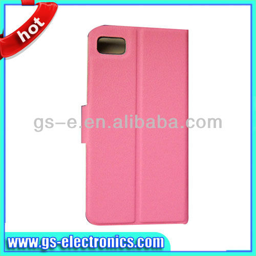 wallet case with card holder for blackberry z10 phone case pink available