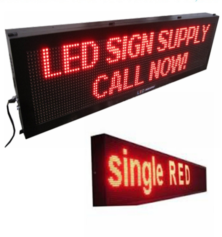 Outdoor IP65 waterproof led matrix P10 single color led sign with Youtube video