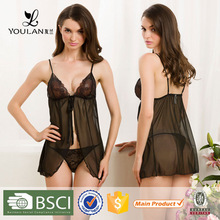 OEM Supply Best Selling Mature Lady Charming Hot Sexy Transparent Nighties For Women