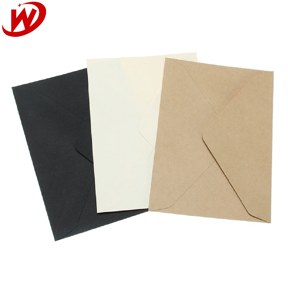 China Suppilers Wholesale Custom Printed Blank Mini Kraft Paper Window Envelopes With 3 Color