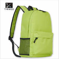 Fashional style polyester school backpack simple backpack for male and female