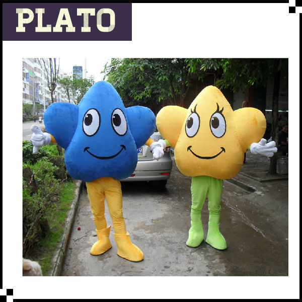 Wholesale lucky star costume, star shape costume, star mascot costume