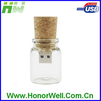 Custom Glass Bottle USB Flash Drive And Free Sample