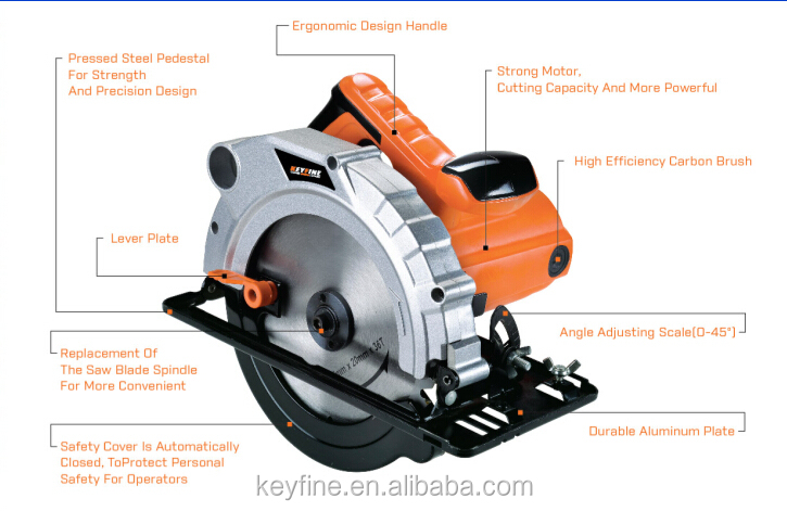 KEYFINE185mm 1200W circular saw machine for wood circular saw wood cutting machine