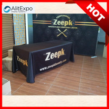 High Quality Top fancy fireproof fabric Display Square Loose Table Covers for trade show