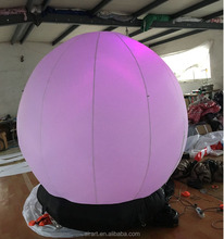 Advertisement decoration with a base Led giant inflatable balloon