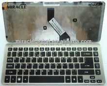 Replace Laptop Keyboard for Acer V5-471 with silver frame US LAYOUT