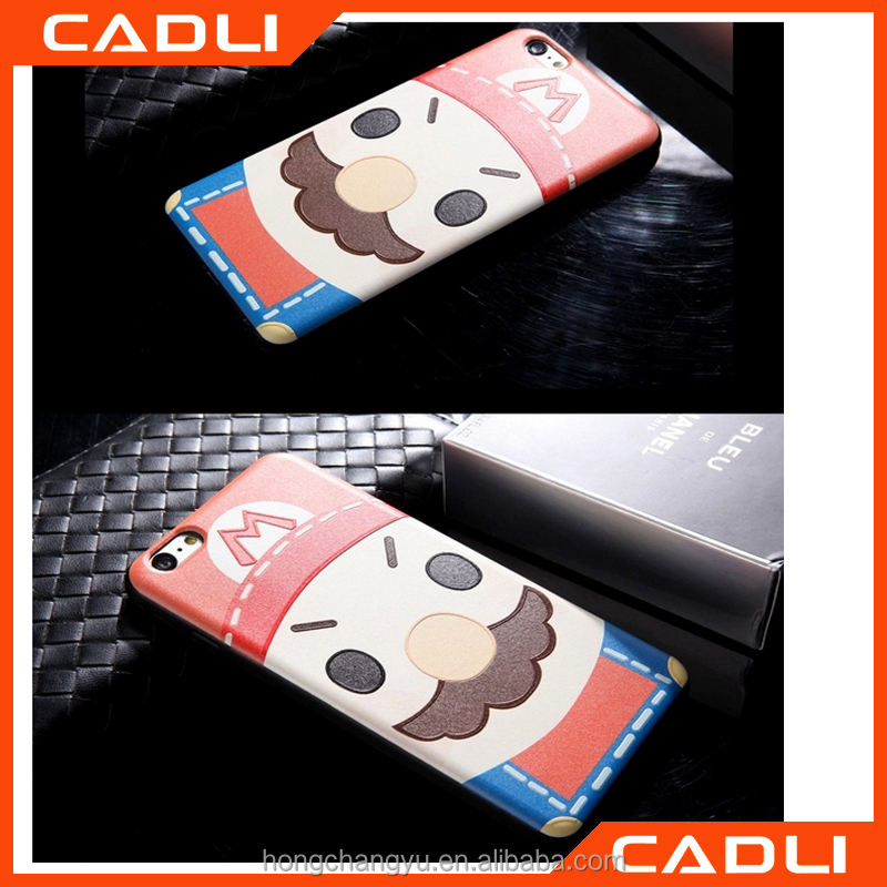 Wholesale Case cover For Iphone 5 5se Silicone Soft TPU 3D Relief Printed Cute Cartoon Case