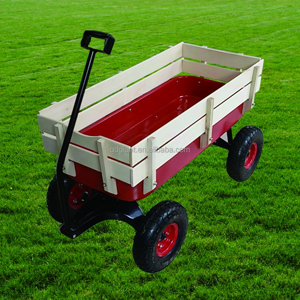 wood cart kids playing wagon push hand cart for sale