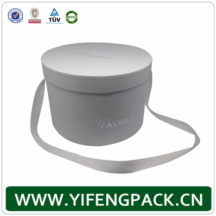 cardboard luxury customized round flower packaging box for chocolate