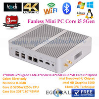 Fanless Mac Mini Intel Core I5 5200U Dual Nic Gaming PC From Eglobal Technology Shenzhen minipc