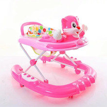 Factory sale high quality best selling rotating seat baby walker with music for infants