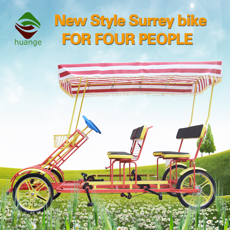 surrey bike quadricycle tandem bike four wheels bicycle for 4 people