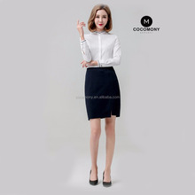 2017 Ladies Blouses Long Sleeve Women Shirt office shirt with mao collar design