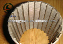 low carbon steel water well johnson wire wrap screen/wedge wire screen filter pipe