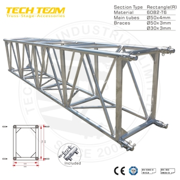 D76-RS15 Aluminum Truss which stage truss ,easy install stage lighting truss