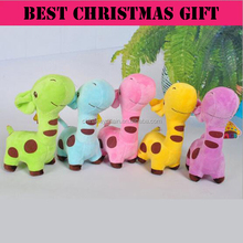Promotional christmas gift giraffe soft doll plush <strong>toy</strong>