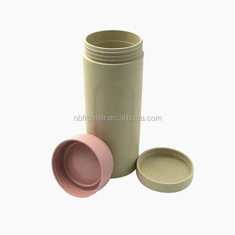 FDA and LFGB wheat fiber travel cup with lid
