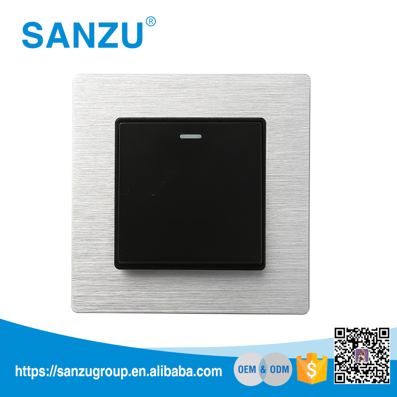 Promotion 1 gang 1 way wall switch, doorbell wall switch, hotel energy saving switch