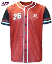 Wholesale baseball tee custom cheap training sublimation baseball jersey