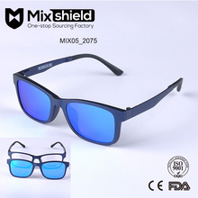 Polarized Ultem Glasses,New Fashion Clip on Hat Magnetic Sunglasses