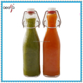 square or round shaped 500ml glass sauce bottles