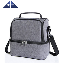 Insulated Dual Compartment Lunch Bag For Men Women Kids