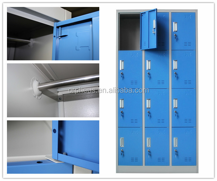 Blue 12 Door Bench Casier for Public Storage Solution Healthcare Gym Armoire A Cle Piscine Casier