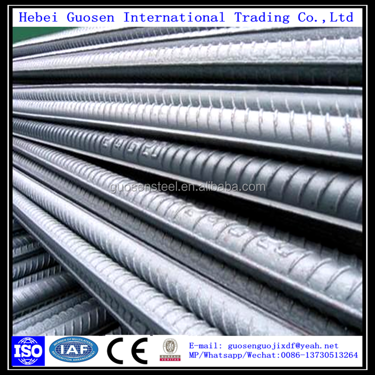 ASTM A 615 Gr60 Steel Rebar/Steel Deformed Bar/Iron Rods prices 12mm per ton for Building