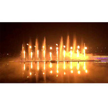Special Large Outdoor Musical Dancing Fire Water Fountain for Lake Show