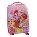 Double Trolley Kids Luggage ABS PC Kids School Luggage For Girls