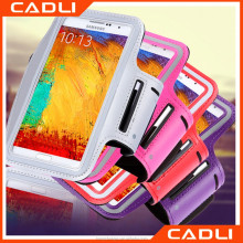 OEM Phone Case Sport Outdoor Running Arm Band Holder Pouch Belt Waterproof Bag PU Leather Case For Samsung Galaxy Note 4 3 2 1