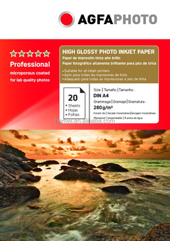 """AGFAPHOTO""280g high glossy photo inkjet paper for inkjet printer"