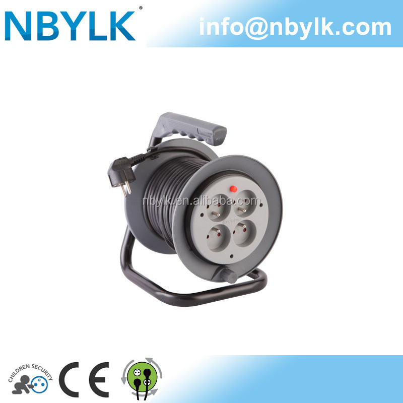NBYLK Mini winding French electric cabl reel H05VV-F fixed plate 15m