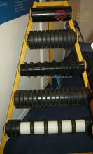 2016 Newest conveyor rubber coating impact roller with CE ISO certificates