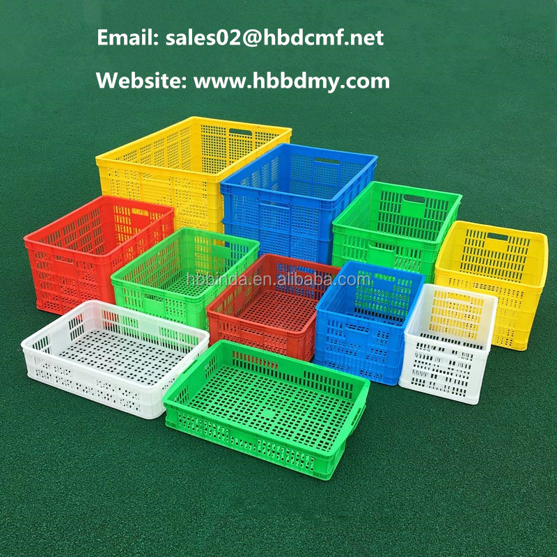 BINDA Plastic Crate with Wheels for Storage