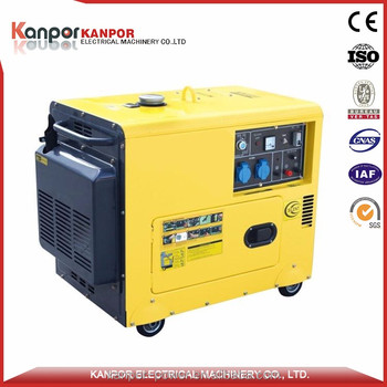 CE certificate 5KW Three phase silent type diesel portable genset