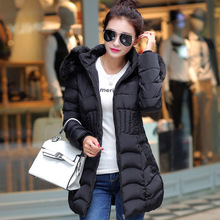 2017 Walson NEW Winter Women's Slim Long Cotton padded jacket hooded jacket Coat Parka winter