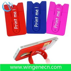 Costom logo silicone phone card holder mobile phone support