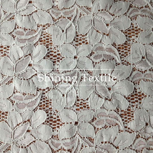 Low MOQ Ivory Organza Lace Fabric For Garment