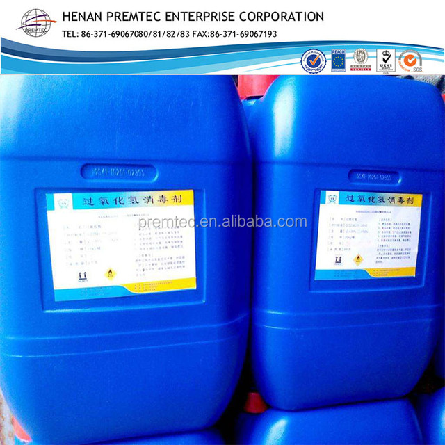 Factory Price Hydrogen Peroxide (H2O2) 35% 50% Industrial Grade