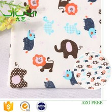 new pattern design cheap custom lion elephant animal pictures interlock print indian cotton fabric