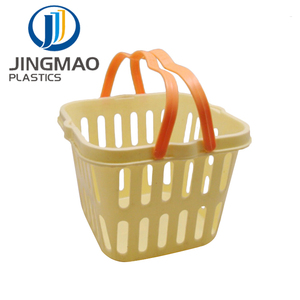 bpa free Plastic Square Fruit Vegetable Basket With Handle